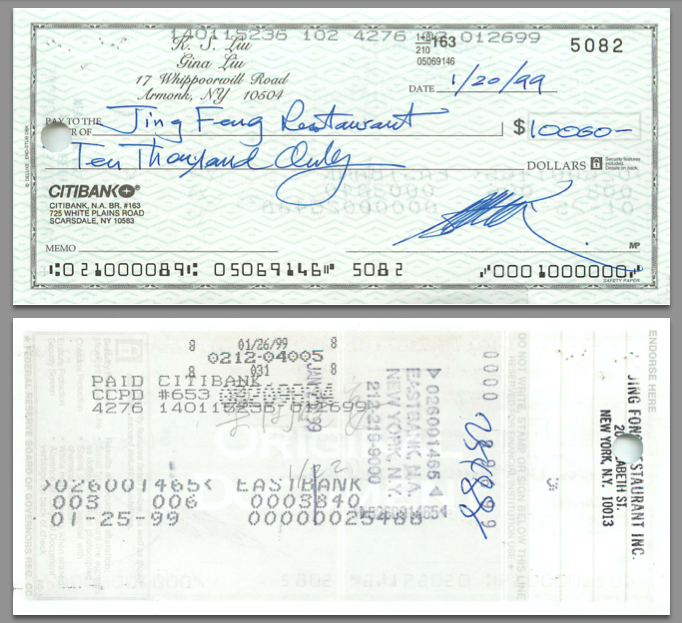 19990120 Cancelled Check